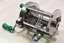 Pflueger Akron No. 1893 Silver w/ Green Handle Bait Casting Fishing Reel Usa