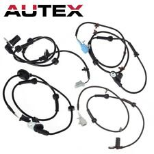 4Pcs Rear + Front Left Right ABS Wheel Speed Sensor For Nissan For Maxima 3.5L