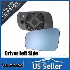 Left Driver Side Mirror Heated Glass Blue For Volkswagen VW Jetta PASSAT Golf