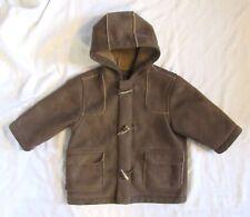 The Children's Place TCP Boys 4T Brown Faux suede Faux fur Fleece Coat Jacket