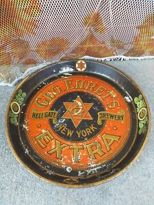 🍺 Vassoio latta birra TRAY GEO.EHRET'S extra NEW YORK 1915' vintage advertising