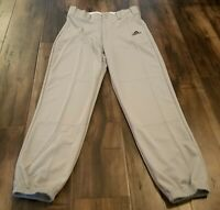 NEW Adidas ClimaLite Men's Baseball Pants Traditional Cut Size Small Gray NWT