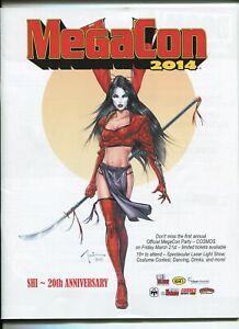 MEGACON 2014 PROGRAM BOOK- SHI 20TH ANNIVERSARY COVER-CREATORS-DEALERS-vf