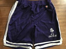 Loras College Duhawks Shorts Vintage Rare Mesh CHAMPION Large