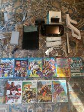 Nintendo Wii U 32GB Black Console and Games Bundle - Mario Splatoon Just Dance