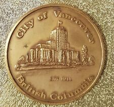 Medaille City of Vancouver Floral Emblem of British Columbia The Dogwood RefV449
