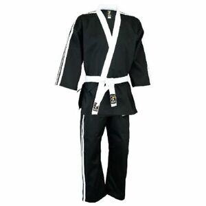 Gestreift Team Freestyle Uniform Schwarz Kampfsport Anzug Gi Erwachsene Kinder
