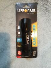 Life Gear LED Flashlight Red Glow and Flasher 40 Lumens