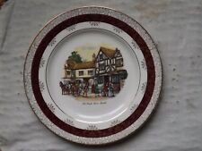 A CROWN DUCAL CHINA PLATE - OLD COACH HOUSE BRISTOL