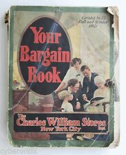 1921 Charles William Stores Catalog 892 pages Fall/Winter Your Bargain Book #33