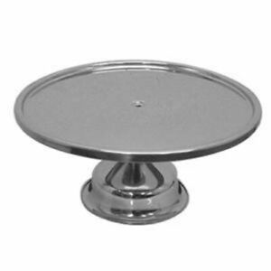 Stainless Steel Polished Metal Bakery Pie Cake Wedding Display Stand Server Base