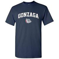 Gonzaga Bulldogs Arch Logo Licensed Unisex Tee - Navy