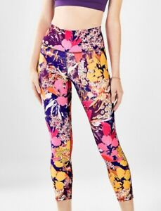 Fabletics Womens Size XS Salar Solid Power Hold Capri Workout Legging Floral