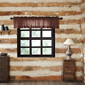 New Primitive Rustic Lodge Cabin RED TARTAN PLAID Curtain Valance