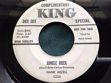 Hear Rare Rockabilly 45 : Hank Mizell and Jim Bobo ~ Jungle Rock ~ King 5236 D J