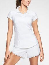 "new ATHLETA ""Caddy Polo Shirt"" Bright White size 2 X (Orig.$ 59.00)"