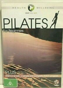 PILATES FOR BEGINNERS PLUS STRETCH AND FLEX – DVD- R-4- LIKE NEW- FREE POSTAGE