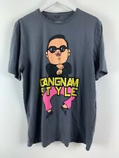 Mens Gangnam Style Print T-shirt Grey Large George Size L UK *G