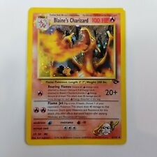 Blaine's Charizard 2/132 Gym Challenge Holo Rare 1st Edition Pokemon Card EX/VLP
