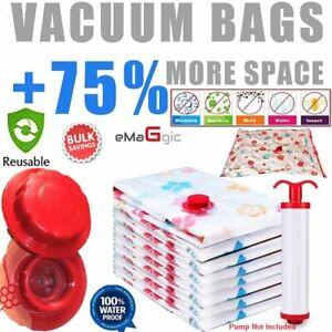 6 VACUUM STORAGE SPACE SAVING BAGS VACUM VACUM BAGS 1(130x100)2(60x70)3(50x70)