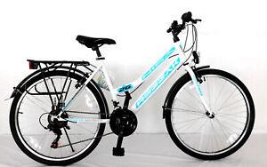 """24 zoll Kinderfahrrad Mädchenfahrrad 24""""Damen Cityfahrrad city bike Weiss türkis"""