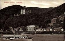 Koblenz Rheinland-Pfalz 1910 Burg Stolzenfels Schloss Rhein Schiff Dampfer