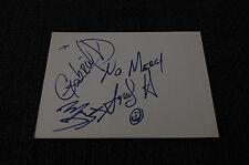 NO MERCY signed Autogramme auf 10x15 cm Karteikarte InPerson LOOK