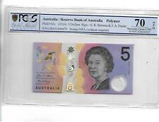 AUSTRALIA 2016 5 DOLLARS P#62a PCGS 70 OPQ SUPERB GEM UNC NOT PMG