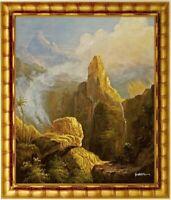 Ölbild Waldlandschaft, Berglandschaft, Landschaftsbild HANDGEMALT F:50x60cm