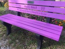 Buddy Bench (Any Vibrant Colors)-Recycled Plastic Lumber and Frames