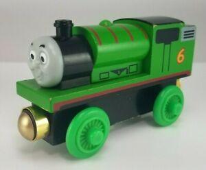 2003 Thomas & Friends Wooden Talking Railway Percy #6 Train Engine RFID 0541TFI0