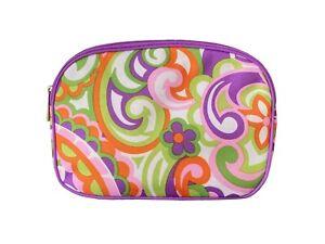 Clinique Purple Flowers Make-Up Bag Pouch medium size