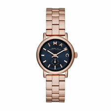 NEW MARC JACOBS ROSE GOLD TONE BAKER MINI LADIES WATCH MBM3332
