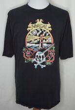 Nor Cal Skull Rose Lighthouse Graphic Black T Shirt XL
