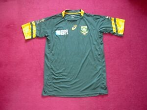 Asics South Africa Home Rugby Union Shirt/top/jersey/world cup 2015/adult medium