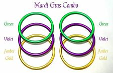 Mardi Gras Pack 3 Inch Crafting Aluminum Rings Do It Yourself Baby Sling Carrier