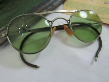 Vintage B&L 24 Tinted Green Safety Glasses Bausch & Lomb Steampunk With Case