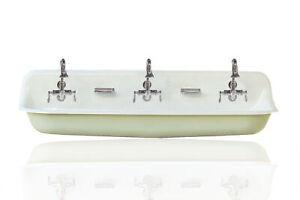 "NEW Kohler Brockway 60"" Farm Sink Mint Green Cast Iron Porcelain Trough Sink Pkg"