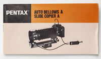 Pentax Auto Bellows A Slide CopierA Bedienungsanleitung Instruction für Pentax
