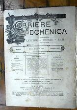 Corriere della Domenica  1890 n. 15 anno 1°   Emilio Zola