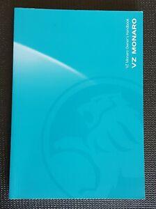 VZ Monaro Owners Handbook Manual 2005 Genuine GM Holden Part NOS 92209611