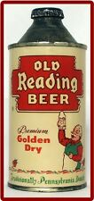 Cone Top Old Reading Golden Dry Beer Can Refrigerator / Tool Box Magnet