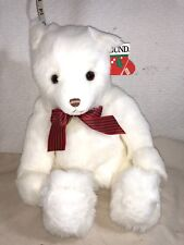 GUND WHITE BEAR STUFFED ANIMAL MONNOMEST CHRISTMAS CAROLS FRIEND VINTAGE NEW TAG