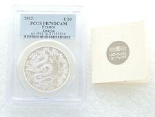 2012 FRANCIA Lunar Dragon 10 dieci euro argento Proof moneta PCGS PR70 DCAM