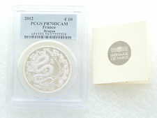 2012 FRANCE LUNAR DRAGON 10 Dix EURO SILVER PROOF COIN PCGS PR70 DCAM