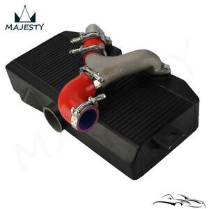 For Subaru 02-07 WRX STI EJ20 EJ25 GD Top Mount Uprated Intercooler +Y Pipe Kit