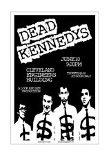 Dead Kennedys 1982 Cleveland Concert Poster
