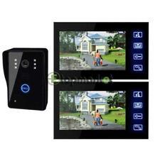 """7"""" Lcd цветная видео двери, телефон, дверной звонок, домашняя безопасность домофон комплект + 2 монитора"""