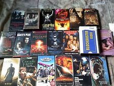 VHS movies lot of 19 concerts, horror, comedy,adventure, gangster