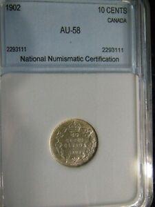 Canada-1902 Silver Dime-High Grade!